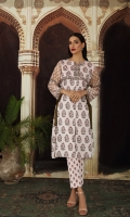 """- Printed Super Fine Lawn Shirt: 2.25 Mtr (59"""" Width)  - Printed Cambric Trouser: 2.25 Mtr (59"""" Width)"""