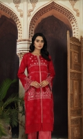 -Printed Super Fine Lawn Shirt: 2 Mtr  -Printed Cambric Trouser: 2 Mtr  -Embroidered Front + 2 Motifs (Patch)