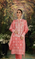 - Rotary Printed Super Fine Lawn Shirt: 3.5 Mtr  - Printed voil Dupatta: 2.5 Mtr  -Dyed Cambric Trouser: 2.5 Mtr  - Embroidered Front+ Border (Patch)