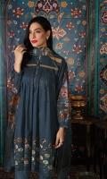 - Digital Printed Super Fine Lawn Shirt: 3 Mtr  -Digital Printed Banarsi Slub Dupatta: 2.5 Mtr  -Dyed Cambric Trouser: 2.5 Mtr