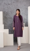 Printed Embroidered Stitched Yarn Dyed Shirt - 1PC