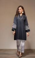 Dyed Embroidered Stitched Lawn Shirt & Printed Trouser - 2PC