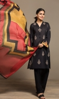 Dyed Embroidered Stitched Lawn Shirt & Printed Dupatta - 2PC