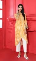 Embroidered Stitched Karandi Shirt With Mask - 1PC