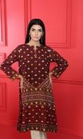 Digital Printed Stitched Khaddar Shirt With Mask -1PC