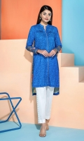 Embroidered Stitched Super Fine Lawn Shirt with Mask - 1PC