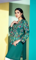 Floral Pattern Stitched Super fine Lawn Shirt with Mask - 1PC