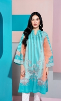 Stitched Super Fine Lawn Shirt with Mask - 1PC