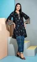Embroidered Stitched Lawn Shirt & Trouser with Mask - 2PC