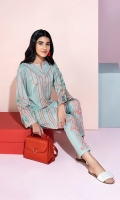 Embroidered Stitched Lawn Shirt & Printed Trouser - 2PC