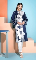 Bold floral Printed Stitched Super Fine Lawn Shirt - 1PC