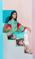 Digital Printed Embroidered Stitched Super Fine Lawn Shirt - 1PC