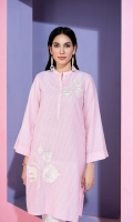 Yarn Dyed Stitched Embroidered Shirt with Mask - 1PC