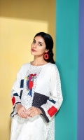 Printed Embroidered Stitched Super Fine Lawn Shirt - 1PC