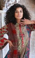 Embroidered Cotton Net Unstitched 3 Piece Suit