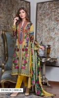 Embroidered lawn 3 pcs suit with jacquard net printed dupatta