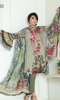 Digital Printed Premium Viscose With Embroidered Fronts & Crinkle Chiffon Dupatta