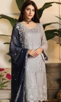 embroidered chiffon unstitched 3pc suit