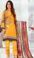Embroidered Karandi Unstitched 3 Piece Suit