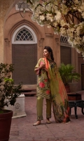 Jacquard Front Embroidered Shirt Silk Embroidered Sleeve & Shirt hem border Patch Trouser Raw Silk Trouser Digital Printed Silk Dupatta.