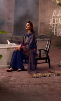 Staple Zarri Embroidered Shirt Sleeve & Shirt hem Embroidered border Trouser Patch Raw Silk Trouser Digital Printed Silk Dupatta side Embroidered patti.