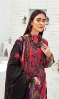 3 Meter Printed Shirt With Front Embroidered 2.5 Meter Lawn Dupatta 2.5 Meter Cotton Trousers