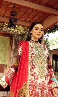 3-Meter Shirt with Embroidered Front 2.5-Meter Lawn Printed Dupatta 2.5-Meter Plain Cotton Trousers