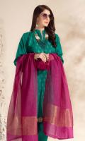 Cotton Khaddar Jacquard Shirt Fancy Jacquard Contrast Dupatta Cotton Khaddar Plain Trousers