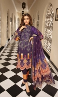 Front 1-meter Viscose Print with Embroidery Back 1-meter Viscose Print Sleeves 0.5-meter Viscose Print Trouser 2.5-meter Plain 2.5-meter Printed Shaffon Duppatta