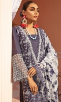 Embroidered Schiffli Lawn Front Embroidered Lawn Schiffli Border Embroidered Lawn Schiffli Sleeves Schiffli Lace Border 1 Schiffli Lace Border 2 Back & Sleeves Plain Lawn Embroidered Chiffon Dupatta Embroidered Dupatta Border Patch Handwork-Embellished Neckline Patch Dyed Cotton Trouser