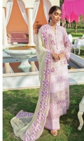 Embroidered Schiffli Lawn Front Embroidered Front Schiffli Border Back & Sleeves Plain Lawn Embroidered Front Patti Front & Sleeves Schiffli Lace Embroidered Front Motif Embroidered Sleeves Patti Embroidered Chiffon 3d Floral Laser Dupatta Dyed Cotton Trouser Trouser Motif