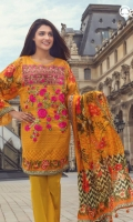 Spectra Yellow Unstitched 3 Piece Lawn Suit
