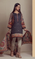 PRINTED LAWN SHIRT   PRINTED LAWN DUPATTA   CAMBRIC DYED EMBROIDERED TROUSER