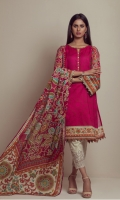PRINTED LAWN SHIRT  LAWN PRINTED DUPATTA  CAMBRIC DYED EMBROIDERED TROUSER