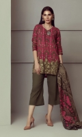 PRINTED LAWN SHIRT WITH EMBROIDERED FRONT  LAWN PRINTED DUPATTA  CAMBRIC DYED TROUSER