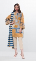 2 Piece Printed Lawn Shirt and Printed Lawn Dupatta