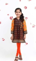 Digital Printed Lawn Top with Embellishments