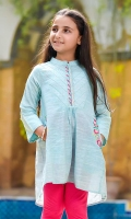 Light Blue Chambray Cotton Top with Embrodiery