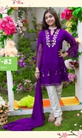 Fabric: Chiffon Kurta with Adda Work on Neck and Tassles and Malai Crepe Lining, Banarasi Straight Pants and Chiffon Dupatta with Pearl Pico Piping
