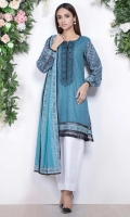 - 1.25mtr Lawn Shirt (Wider Width)  - Extra lawn Sleeves (Wider width)  -2.5mtr Lawn Dupatta  - Embroidered Shirt