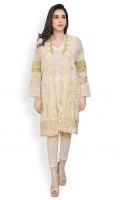 Heavily embroidered organza jacket with slip Straight cut with straight full sleeves