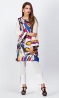 - Digital printed kurti  - Straight cut kurta  - Round neckline  Full bell sleeves