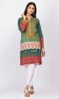 100% Lawn Ready To Wear Digital Kurti Straight shirt and straight full sleeves with fabric manipulation on daaman.