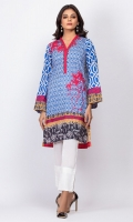 100% Cambric Ready To Wear Digital Kurti Straight shirt with overlapped neckline and straight full sleeves.