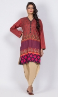 Ready to wear digital printed shirt.Embellished Y-neckline.Straight cut shirt with straight full sleeves.