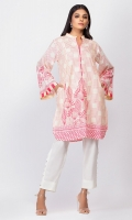 - Digital printed kurti  - Straight cut kurta with pockets  -High collar V neckline with pearls  - Full bell sleeves