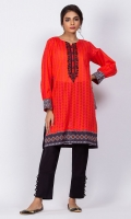 Ready to wear digital printed shirt.Round neckline with embrodiery and buttonson neckline.Straight Cut shirt.