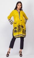 - Digital printed kurti  - Straight cut kurta with pockets  -High collar V neckline  - Full straight sleeves