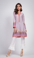 100% Lawn Digital Printed Shirt with V-neckline. Straight shirt and straight full sleeves.