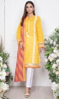 - 1.25mtr Lawn Shirt (Wider Width)  - Extra lawn Sleeves (Wider width)  - 2.5mtr Lawn Dupatta  - 2mtr Textured pants (Wider width)  - Embroidered Shirt